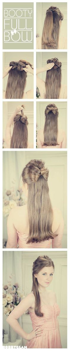 Half-up Half-down Hair bow , so want to do this to my hair when it gets long <3