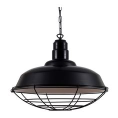 Eden Black Industrial Cage Pendant Light ($395) ❤ liked on Polyvore featuring home, lighting, ceiling lights, lights, black, lamps, black ceiling lamp, black lamp, onyx lamp and onyx pendant lights