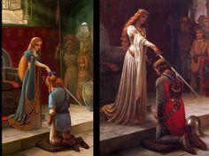 "The Legend of Zelda x ""The Accolade"" do pintor Edmund Leighton"