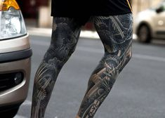 125 Best Leg Tattoos For Men Leg tattoos are often underappreciated since most guys look to get tattooed on their arm, chest, shoulder or back. Despite this, there are m Leg Tattoos Small, Upper Leg Tattoos, Best Leg Tattoos, Latest Tattoos, Men Tattoos, Shin Tattoo, Knee Tattoo, Calf Tattoo, Wolf Tattoo Sleeve