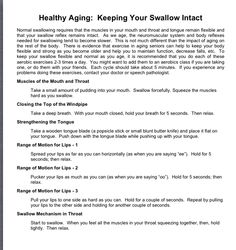 Keeping Your Swallow Intact-American Dysphagia Network-Pinned by SOS Inc. Resources @sostherapy http://pinterest.com/sostherapy.