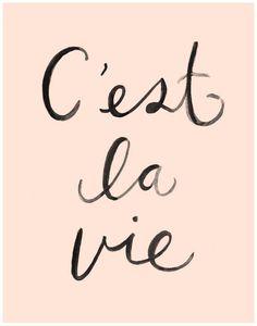 C'est La Vie Art Print