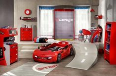 Race Car Themed Bedroom Decorating for Kids