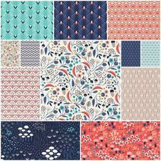 Wildwood Fat Quarter Bundle by Elizabeth Olwen - Jo Ann Fabrics has a collection of her fabric with a matching colorway called Retro Morocco. I own some of that, but I like these prints more.