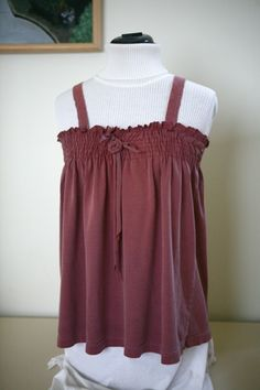 How to: Make a Tank Top from a T-Shirt- this is adorable, if only I knew how to shirr...