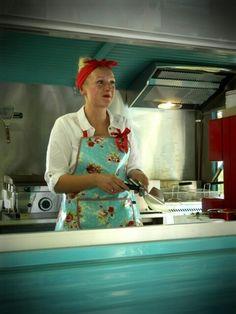 Burger Belles, Citroën HY food truck. http://www.burgerbelles.co.uk/