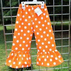 gameday pants for little girl