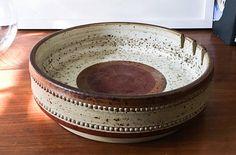 David Yorath for Denby Large Pottery Bowl Ashtray Catchall