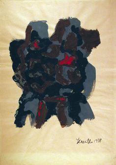 Leoncillo, Senza titolo, 1958 Tempera su carta © Leoncillo  Raccolta del disegno, Galleria civica di Modena