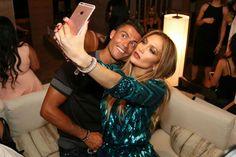 Cristiano Ronaldo posing for a selfie Jennifer Lopez at her birthday celebration in the Nobu Villa Suite at Caesars Palace, Las Vegas on July, 2016