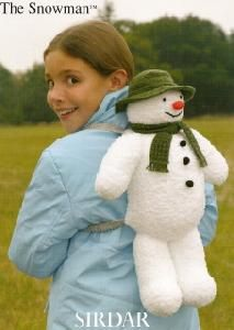 Sirdar 2069 The Snowman backpack knitting pattern Raymond Briggs, Knitting Patterns, Crochet Patterns, Novelty Toys, Dog Coats, Knit Or Crochet, Vintage Knitting, Doll Clothes, Snowman