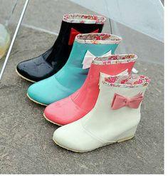 Kawaii Clothing | Botas Lluvia Kawaii Lazo / Rain Boots Cute Bow LS161 | Online Store Powered by Storenvy