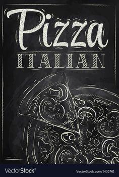 Chalkboard Restaurant, Blackboard Art, Restaurant Poster, Chalkboard Print, Chalkboard Designs, Logo Pizzeria, Pizzeria Design, Chalk Menu, Chalk Art
