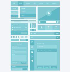 Responsive Ui Kit in 30 Flat UI Kits for Web Designers