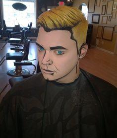 Cartoon-artiges Make up für Männer
