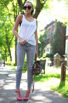 leopard jeans.