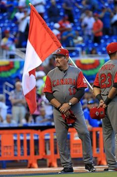 Manager Ernie Whitt #12 of Canada looks on during a Pool C game of the 2017 World Baseball Classic against the Dominican Republic at Miami Marlins Stadium on March 9, 2017 in Miami, Florida.