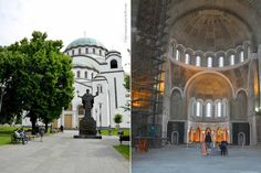 Belgrade's Church of Saint Sava is still undergoing construction. It's projected to be one of the largest Orthodox cathedrals in the world.