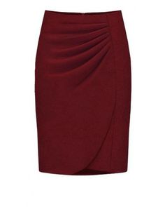 Deep Red Fashion Professional Skirt  Indressme.