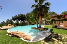 Charming villa in Es Cubells area. by Kelosa Classic Interior, Mediterranean Sea, Pool Houses, Maine House, Ibiza, Property For Sale, Terrace, Swimming Pools, Lawn