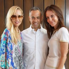 NET-A-PORTER.COM President Alison Loehnis is joined by Calvin Klein's creative director Francisco Costa and designer Rachel Zoe to celebrate the exclusive Calvin Klein capsule collection coming soon on NET-A-PORTER.COM