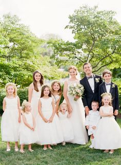 I love children at weddings!?! What about a lot of flower girls and ring bearers and no bridesmaids or groomsmen?!?