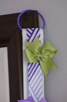Girls Hair Bow HolderHair Bow Holder Hair Clip Organizer Chevron Girls Decorative Accessory Wall Hanging Baby Shower Gift Navy Blue White – Flutter Bunny Boutique, LLC
