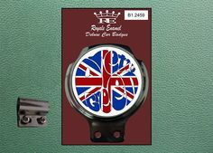 Royale Classic Car Badge & Bar Clip PRETTY GREEN MODS B1.2459