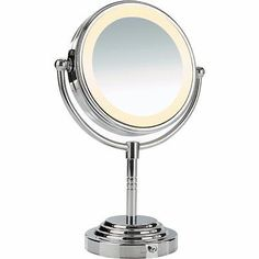 Makeup Mirrors: Conair Magnifying Makeup Mirror Two Double Sided Lighted 5X Make Up Mascara New BUY IT NOW ONLY: $33.57