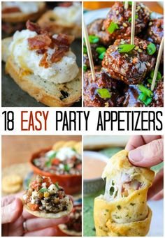 18 Easy Appetizer Ideas. These are all easy to do last minute or make-ahead of time!