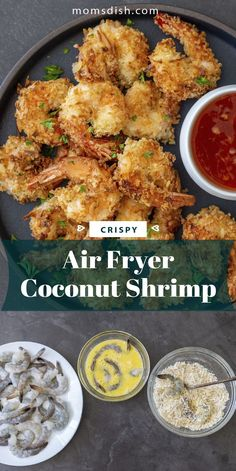 This air fryer coconut shrimp makes for the best snack or light lunch or dinner. This recipe is crispy and perfectly made, it is also super easy to make. This will become your favorite way to enjoy shrimp because of how quick and easy they are to make. This will become one of your family's favorites. #airfryerrecipes #airfryercoconutshrimp #coconutshrimp #shrimprecipes #shrimp #easylunchrecipes #lunchrecipes #lunchideas
