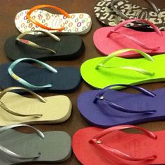 Havianas. The only flip flops I buy!  Six new pair enroute to me as we speak ;)