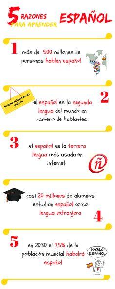 5 razones para aprender español