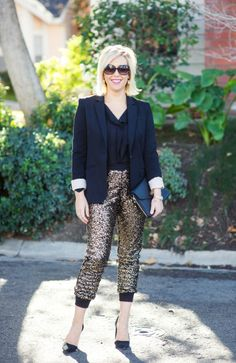 Sequined track pants-Kacee from Life with Lipstick On