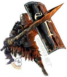 Dark Souls: Iron Knight Tarkus by karniz.deviantart.com on @deviantART