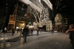 Metropolitan Opera stagehands go to work changing the scenery for the wintry third act of La Bohème Metropolitan Opera, Theatre Stage, Design Research, Conductors, Orchestra, Scenery, Street View, Meet, Community