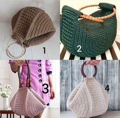 Crotchet Bags, Knitted Bags, Crochet Handbags, Crochet Purses, Knitting Patterns, Crochet Patterns, Crochet Backpack, Macrame Bag, Craft Bags