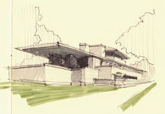 NY & Chicago Architecture Sketches by Cristián Bascuñán, via Behance