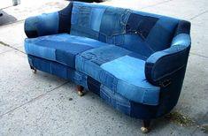 Upcycled denim sofa creates buzz on Craigslist - HomeCrux