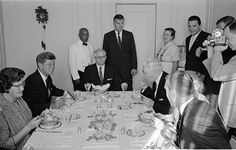 Addressing: President John Fitzgerald Kennedy dining in S.L.C. Utah 26 Sept. 1963...