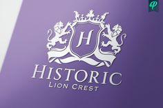 Historic - Lion Crest Logo by PenPal on @creativemarket
