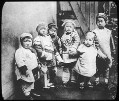 Group portrait of Chinese children in San Francisco's Chinatown, circa 1925.