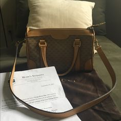 Gucci Boston Bag This is true vintage! Prestine condition, authenticated from Meme's  treasures. Things Just don't get made like this anymore. Can be carried as a tote or shoulder bag. Comes with detachable strap, dust bag and authenticity paperwork. It will still go through Posh's Concierge service. More photos upon request for serious buyers. A truly amazing bag for anyone's collection! Not in any hurry to let this one go:) Gucci Bags Shoulder Bags