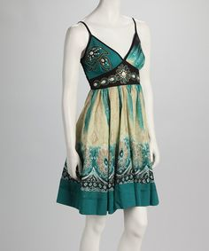 Green Batik Dress by Young Threads