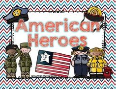 Updated 5/18/14: Added more writing pages and even more American heroes! This freebie now includes: fire safety week, Veterans Day, Memorial Day and 9/11.  After our American hero discussions about 9/11, I've decided to add an additional 20+ pages. This freebie was very helpful to implement with my little learners. Even if you don't talk about the tragic events of 9/11 you can still thank a hero any time of the year, right? We will never forget.