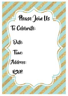 Free printable birthday invitations for kids freeprintables gold invitations invitation ideas birthday party invitations birthday party ideas golden birthday filmwisefo