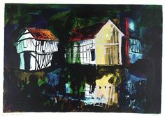 John Piper, 'Lower Brockhampton' 1983