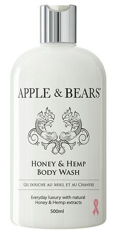 Apple & Bears Honey & Hemp Body Wash - 500ml