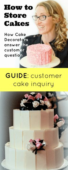 How to Store Your Decorated Cakes: Answer Cake Customer Inquiry | Being in the business of cakes, I get asked only too often ... How do I store this cake? I give the advice out upon pickup or delivery, as they don't know. I say ... | http://angelfoods.net/how-to-store-your-decorated-cakes-answer-cake-customer-inquiry