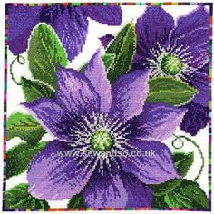 Shop online for Clematis Cross Stitch Kit at sewandso.co.uk. Browse our great range of cross stitch and needlecraft products, in stock, with great prices and fast delivery.